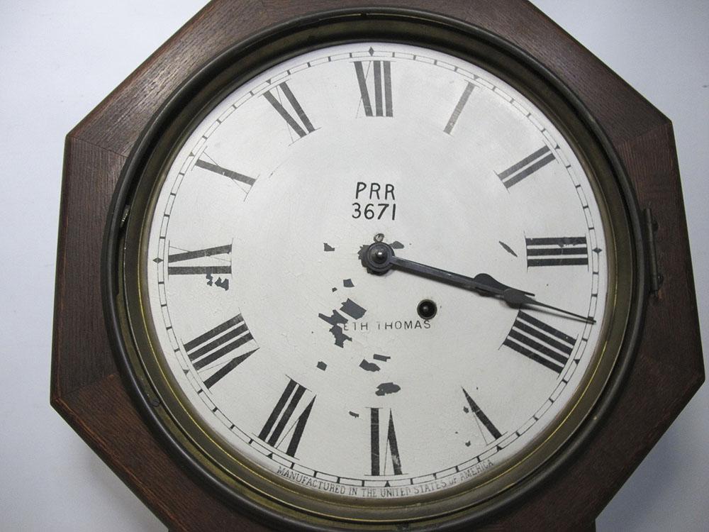 large antique working seth thomas regulator pendulum wood